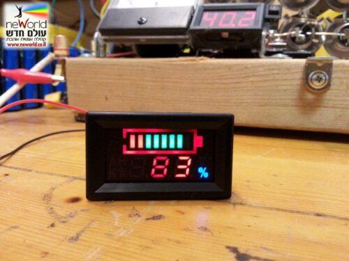 מד סוללה דיגיטאלי חכם, ניתן לתכנות - צג צבעוני 6v-120v