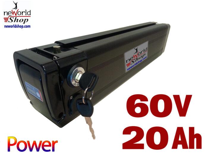 סוללה ליתיום 20Ah 60V 4C לאופניים חשמליים שונים - מארז סילבר פיש