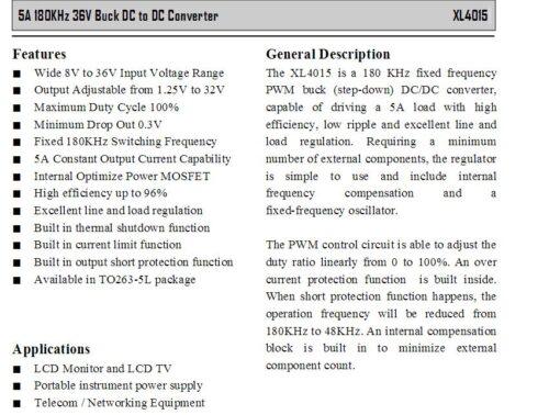 ממיר מתח ישר מתכוונן איכותי DC-DC adjustable converter 5A 1.25-32V to 8-34V מתאים לטעינת סוללות
